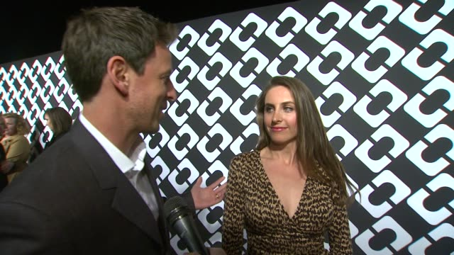 interview seth meyers alexi ashe on being a part of the night and what they appreciate about diane von furstenberg what makes the wrap dress so... - seth meyers stock videos and b-roll footage