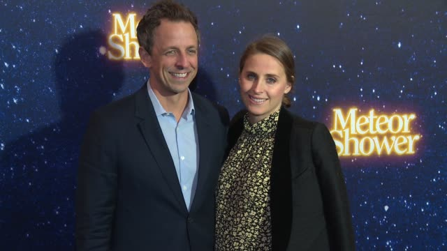 seth meyers and alexi ashe at meteor shower opens on broadway at booth theater on november 29 2017 in new york city - alexi ashe stock videos and b-roll footage