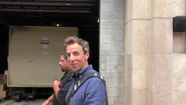 seth meyers at comiccon celebrity sightings on july 10 2015 in san diego california - seth meyers stock videos and b-roll footage