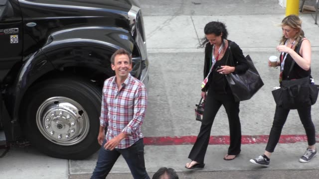 seth meyers at comiccon celebrity sightings on july 11 2015 in san diego california - seth meyers stock videos and b-roll footage
