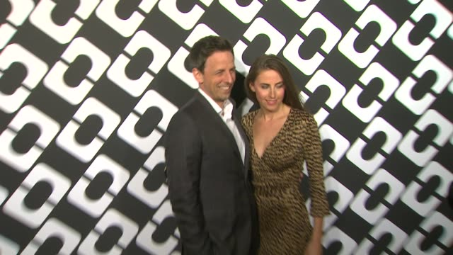 seth meyers at diane von furstenberg's journey of a dress exhibition opening celebration in los angeles ca - seth meyers stock videos and b-roll footage