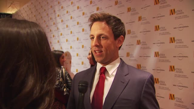 seth meyers at the 2009 matrix awards at new york ny - seth meyers stock videos and b-roll footage