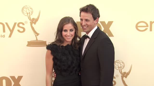 seth meyers at the 63rd primetime emmy awards arrivals part 2 at los angeles ca - seth meyers stock videos and b-roll footage