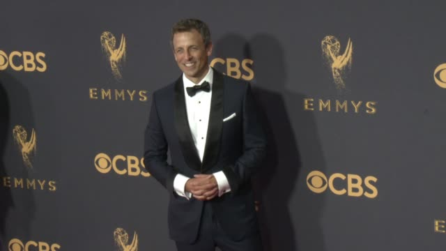 seth meyers at the 69th annual primetime emmy awards at microsoft theater on september 17 2017 in los angeles california - seth meyers stock videos and b-roll footage