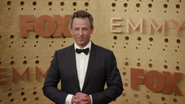 seth meyers at the 71st emmy awards arrivals at microsoft theater on september 22 2019 in los angeles california - seth meyers stock videos and b-roll footage