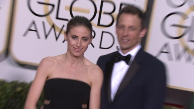seth meyers at the 72nd annual golden globe awards arrivals at the beverly hilton hotel on january 11 2015 in beverly hills california - seth meyers stock videos and b-roll footage