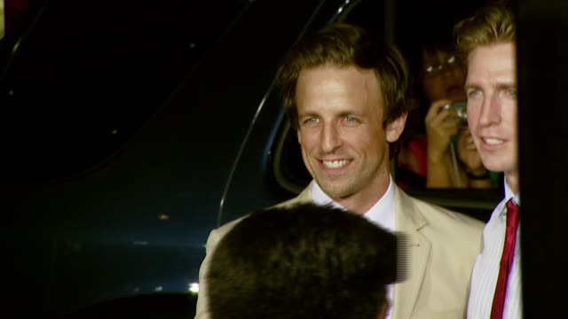 seth meyers at the 'hot rod' los angeles premiere at grauman's chinese theatre in hollywood california on july 26 2007 - seth meyers stock videos and b-roll footage