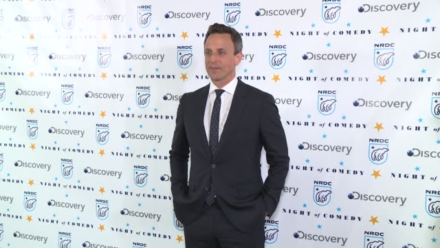 seth meyers at the natural resources defense council presents night of comedy benefit hosted by seth meyers at new york historical society on april... - seth meyers stock videos and b-roll footage