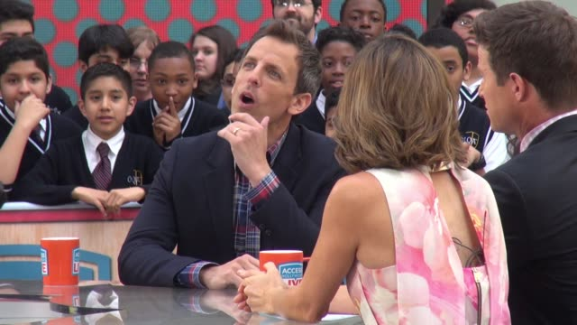 seth meyers on the 'access hollywood' show in celebrity sightings in new york - seth meyers stock videos and b-roll footage