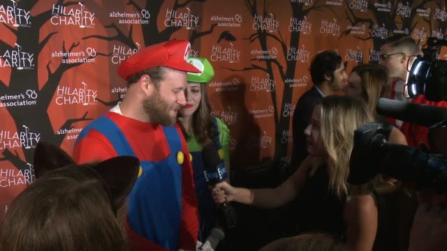 seth rogen and lauren miller rogen at hilarity for charity's 5th annual los angeles variety show seth rogen's halloween at hollywood palladium on... - seth rogen stock videos and b-roll footage