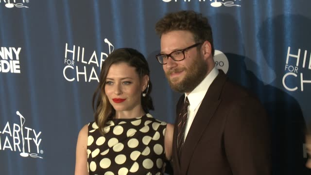 seth rogen and lauren miller rogen at james franco's bar mitzvah hilarity for charity's 4th annual variety show at hollywood palladium on october 17... - seth rogen stock videos and b-roll footage