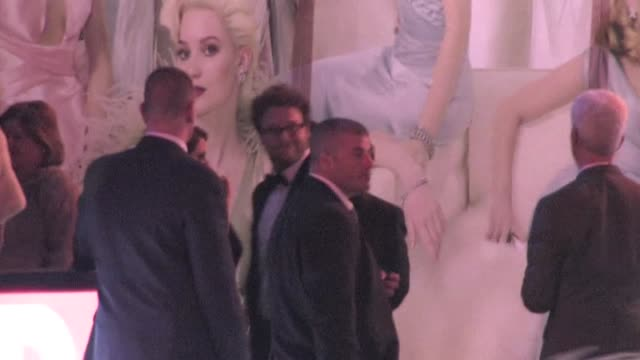 seth rogen arrives at the 2012 vanity fair oscar party in west hollywood ca 02/26/12 - oscar party stock-videos und b-roll-filmmaterial