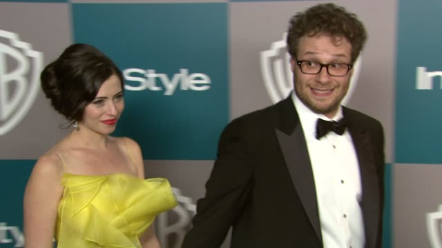 seth rogen at 13th annual warner bros and instyle golden globe afterparty on 1/15/2012 in beverly hills ca - seth rogen stock videos and b-roll footage