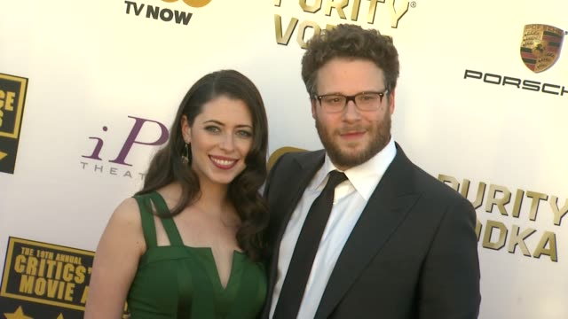 seth rogen at 19th annual critics' choice movie awards - arrivals at the barker hanger on in santa monica, california. - critics' choice movie awards stock videos & royalty-free footage