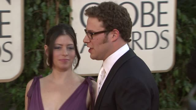 seth rogen at the 66th annual golden globe awards arrivals part 6 at los angeles ca - seth rogen stock videos and b-roll footage