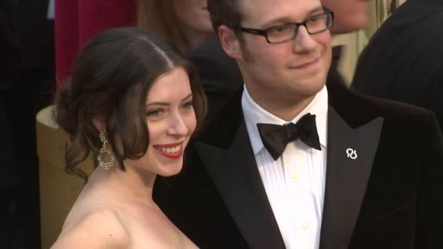 seth rogen at the 81st academy awards arrivals part 6 at los angeles ca - seth rogen stock videos and b-roll footage