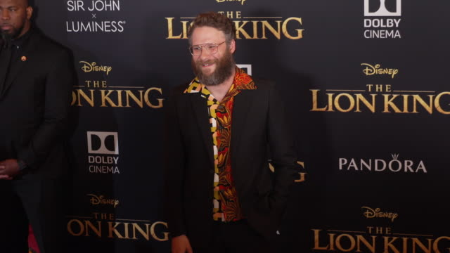 Seth Rogen at the World Premiere of Disney's The Lion King at Dolby Theatre on July 09 2019 in Hollywood California