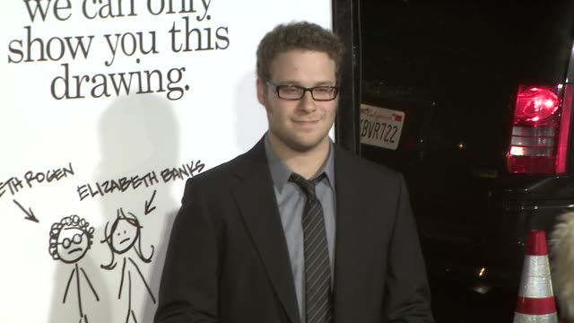 seth rogen at the zack and miri make a porno premiere at los angeles ca - seth rogen stock videos and b-roll footage