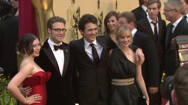 seth rogen james franco at the 81st academy awards arrivals part 6 at los angeles ca - seth rogen stock videos and b-roll footage