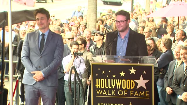 speech seth rogen on knowing james franco at james franco honored with star on the hollywood walk of fame speech seth rogen on knowing james franco... - seth rogen stock videos and b-roll footage