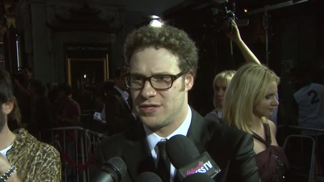 seth rogen on working on the movie why he agreed to do the movie without even reading the script about the chemistry with anna faris and doing his... - seth rogen stock videos and b-roll footage