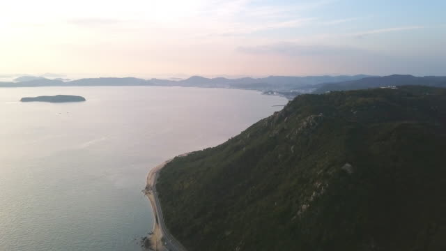 seto inland sea from the air as the sunsets - satoyama scenery stock videos & royalty-free footage