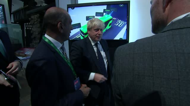sets out net zero plan for 'green industrial revolution'; england: london: south kensington: the science museum: int boris johnson mp in the science... - itv lunchtime news stock videos & royalty-free footage