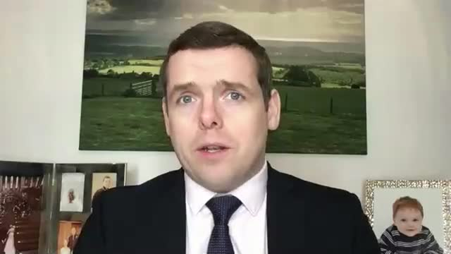 sets out plans for new independence referendum if they win holyrood elections; scotland: int douglas ross mp interview via internet sot. cutaways... - politics stock videos & royalty-free footage