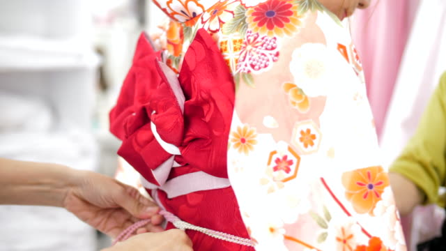 setting up kimono - kimono stock videos & royalty-free footage