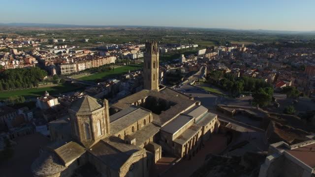 seu vella de lleida - castillo - klocktorn bildbanksvideor och videomaterial från bakom kulisserna