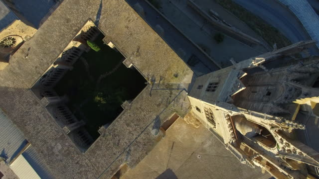 seu vella de lleida - castillo - spain stock videos & royalty-free footage