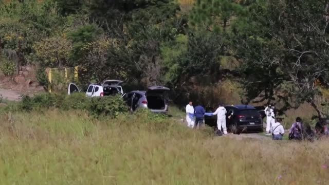 seven bodies are found inside three abandoned vehicles on a road in the mexican state of jalisco where drug cartels hold a powerful grip - drug cartel murder stock videos & royalty-free footage