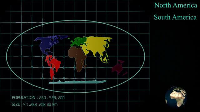 sette continenti - europa continente video stock e b–roll