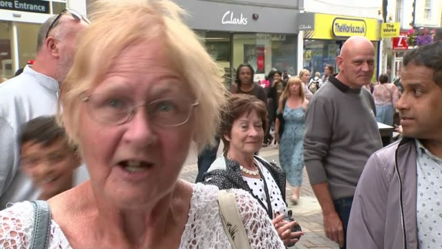 seven marks and spencer's stores close down; england: northampton: ext vox pops. - northampton england stock videos & royalty-free footage