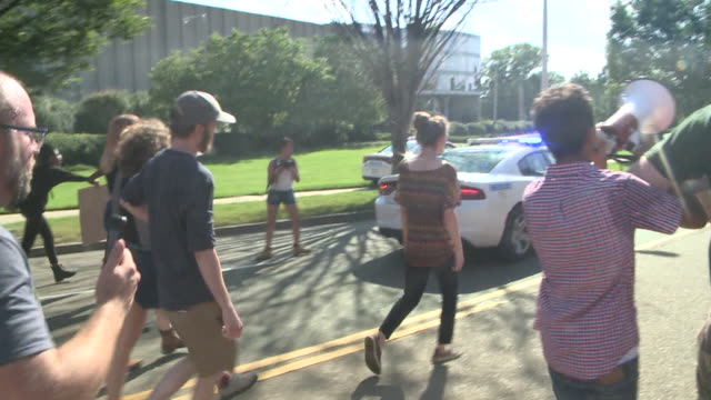WREG Seven people were arrested on Aug 19 2017 in a protest to support removal of the Nathan Bedford Forrest monument in Memphis Tennessee