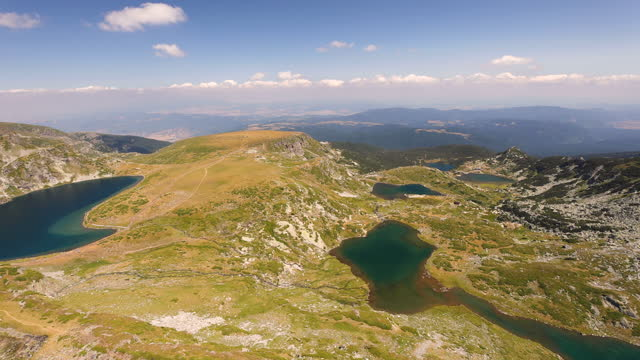 seven rila lakes view - number 7 stock videos & royalty-free footage