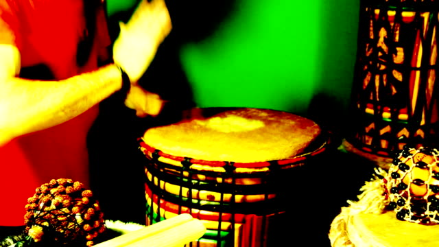 Seven (7) short loopable percussion drumming sequences
