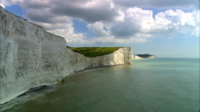 Sette sorelle bianche scogliere-Vista aerea-Inghilterra, Regno Unito