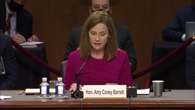 seventh circuit judge amy coney barrett says in her opening statement to the senate judiciary committee on first day of her senate judiciary... - literature stock videos & royalty-free footage