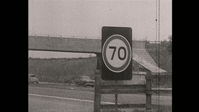 seventy mile an hour speed limit introduced on british motorways, 1966 - boundary stock videos & royalty-free footage