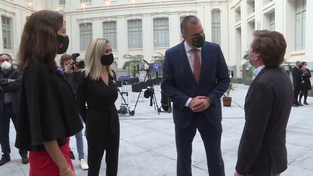 several agents and animals participating in the presentation of the 'adopt a retiree 2021' campaign, at the palacio de cibeles. the campaign has been... - four animals stock videos & royalty-free footage