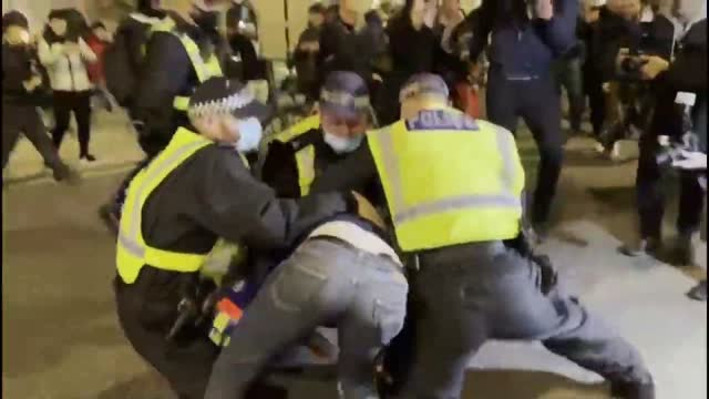 several arrests were made in london on november 5 near trafalgar square as anti-lockdown and million mask march protesters gathered in opposition of... - 18 19 years stock videos & royalty-free footage