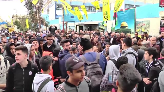 Several dozen Palestinian refugees on Wednesday held a protest in the Ain elHelweh camp in southern Lebanon ahead of an announcement by US President...