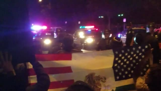 several dozen protestors in the street near euclid street and palais road in anaheim on wednesday night. protest organizers say the event on... - dozen stock videos & royalty-free footage