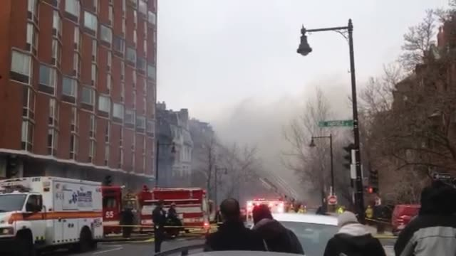 several firefighters are injuried as they battled a ninealarm fire in the back bay on beacon st - back bay boston stock videos & royalty-free footage
