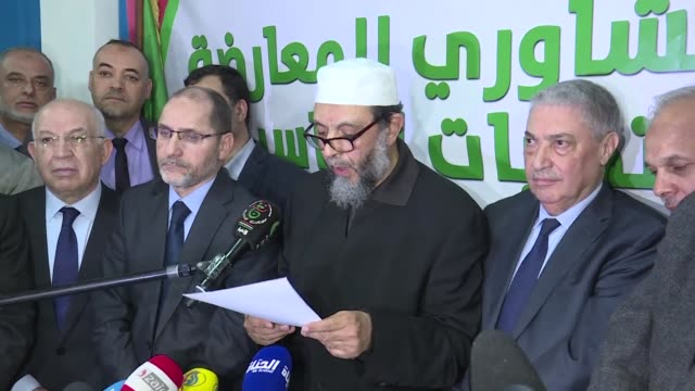 stockvideo's en b-roll-footage met several opposition leaders gather in algiers to discuss a single candidacy for the april 18th presidential elections failing to find a consensus - politieke partij