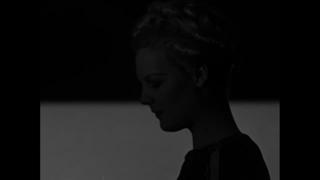 several shots of silhouetted women with translucent screens dropping to show hairstyles - translucent stock videos & royalty-free footage