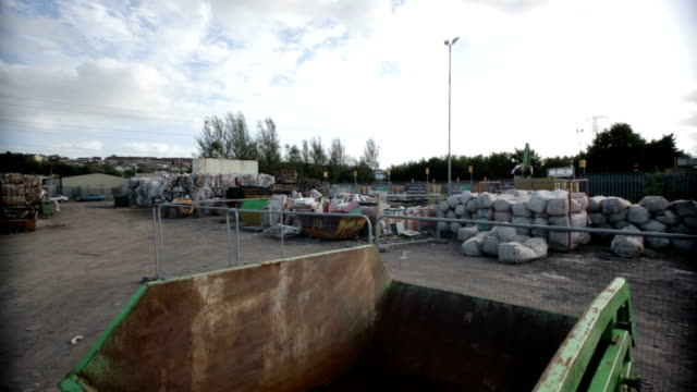 Several skips at a recycling centre
