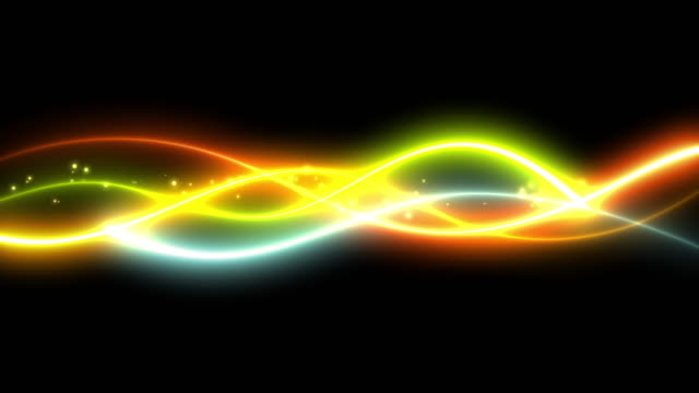 several stroke line with glow effect  and glow particle of five colors - shiny stock videos & royalty-free footage