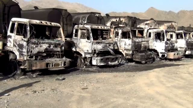 several taliban militants, including suicide bombers, have launched coordinated attacks in torkham, a border town, in the eastern nangarhar province... - suicide bombing stock videos & royalty-free footage